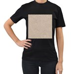 BRICK1 WHITE MARBLE & SAND Women s T-Shirt (Black) Front