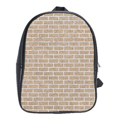 Brick1 White Marble & Sand School Bag (large)