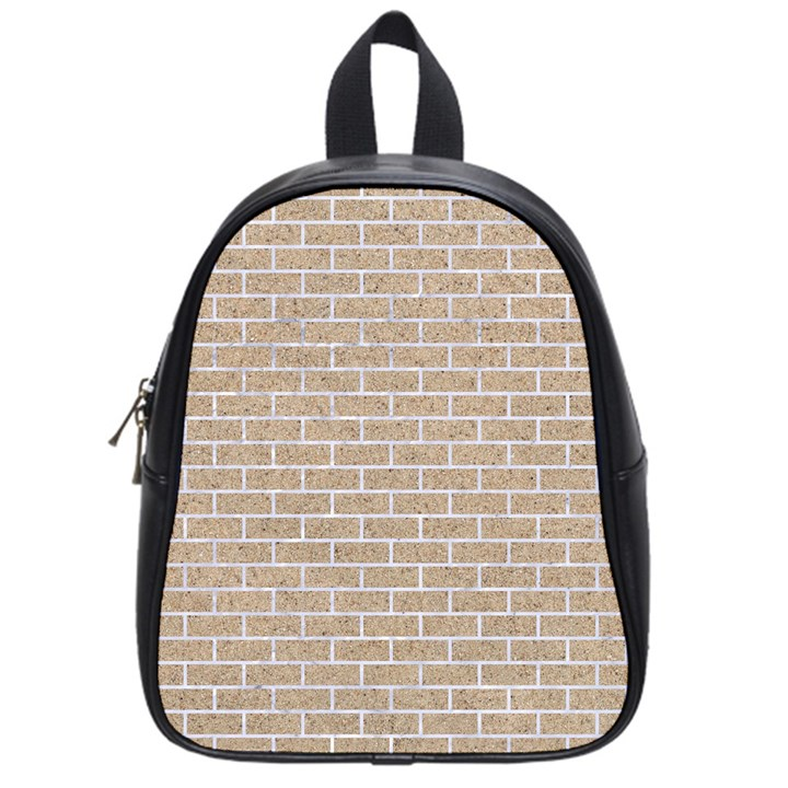 BRICK1 WHITE MARBLE & SAND School Bag (Small)