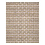 BRICK1 WHITE MARBLE & SAND Shower Curtain 60  x 72  (Medium)  54.25 x65.71 Curtain