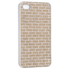 Brick1 White Marble & Sand Apple Iphone 4/4s Seamless Case (white) by trendistuff