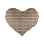 BRICK1 WHITE MARBLE & SAND Standard 16  Premium Heart Shape Cushions Front