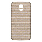 BRICK1 WHITE MARBLE & SAND Samsung Galaxy S5 Back Case (White) Front