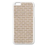 BRICK1 WHITE MARBLE & SAND Apple iPhone 6 Plus/6S Plus Enamel White Case Front