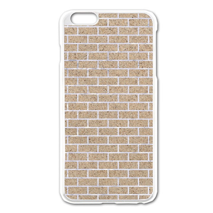 BRICK1 WHITE MARBLE & SAND Apple iPhone 6 Plus/6S Plus Enamel White Case