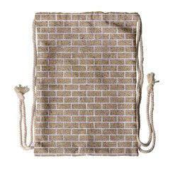 Brick1 White Marble & Sand Drawstring Bag (large) by trendistuff