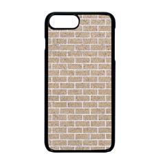 Brick1 White Marble & Sand Apple Iphone 7 Plus Seamless Case (black)