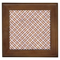 Woven2 White Marble & Rusted Metal (r) Framed Tiles by trendistuff