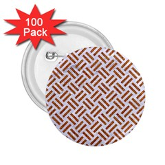 WOVEN2 WHITE MARBLE & RUSTED METAL (R) 2.25  Buttons (100 pack)
