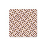 WOVEN2 WHITE MARBLE & RUSTED METAL (R) Square Magnet Front