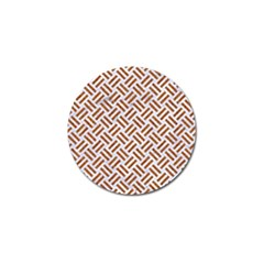 WOVEN2 WHITE MARBLE & RUSTED METAL (R) Golf Ball Marker