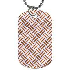 WOVEN2 WHITE MARBLE & RUSTED METAL (R) Dog Tag (Two Sides)