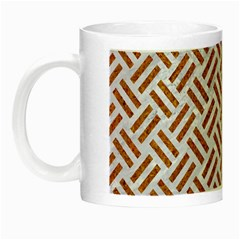 WOVEN2 WHITE MARBLE & RUSTED METAL (R) Night Luminous Mugs