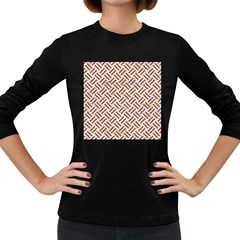 WOVEN2 WHITE MARBLE & RUSTED METAL (R) Women s Long Sleeve Dark T-Shirts