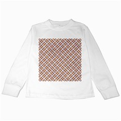 WOVEN2 WHITE MARBLE & RUSTED METAL (R) Kids Long Sleeve T-Shirts