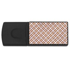 WOVEN2 WHITE MARBLE & RUSTED METAL (R) Rectangular USB Flash Drive