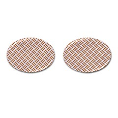WOVEN2 WHITE MARBLE & RUSTED METAL (R) Cufflinks (Oval)