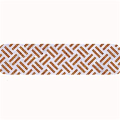WOVEN2 WHITE MARBLE & RUSTED METAL (R) Large Bar Mats