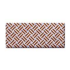Woven2 White Marble & Rusted Metal (r) Cosmetic Storage Cases by trendistuff