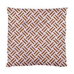 Woven2 White Marble & Rusted Metal (r) Standard Cushion Case (one Side) by trendistuff