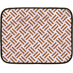 WOVEN2 WHITE MARBLE & RUSTED METAL (R) Double Sided Fleece Blanket (Mini)