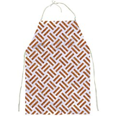 Woven2 White Marble & Rusted Metal (r) Full Print Aprons by trendistuff