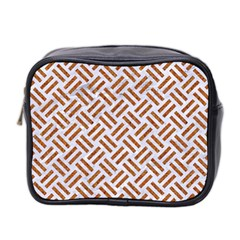 WOVEN2 WHITE MARBLE & RUSTED METAL (R) Mini Toiletries Bag 2-Side