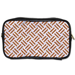 Woven2 White Marble & Rusted Metal (r) Toiletries Bags 2 Side