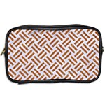 WOVEN2 WHITE MARBLE & RUSTED METAL (R) Toiletries Bags 2-Side Back