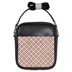 WOVEN2 WHITE MARBLE & RUSTED METAL (R) Girls Sling Bags