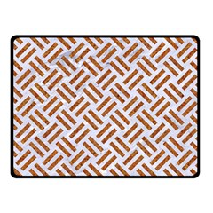 Woven2 White Marble & Rusted Metal (r) Fleece Blanket (small) by trendistuff