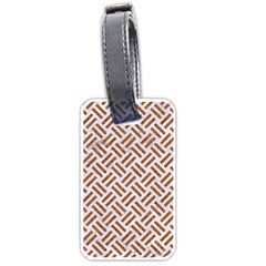 WOVEN2 WHITE MARBLE & RUSTED METAL (R) Luggage Tags (Two Sides)