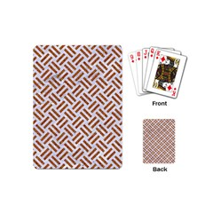 Woven2 White Marble & Rusted Metal (r) Playing Cards (mini)