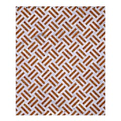 Woven2 White Marble & Rusted Metal (r) Shower Curtain 60  X 72  (medium)  by trendistuff