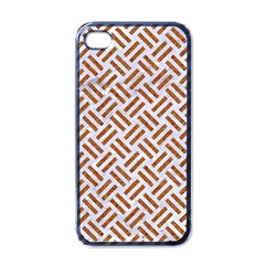 WOVEN2 WHITE MARBLE & RUSTED METAL (R) Apple iPhone 4 Case (Black)