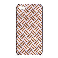 WOVEN2 WHITE MARBLE & RUSTED METAL (R) Apple iPhone 4/4s Seamless Case (Black)