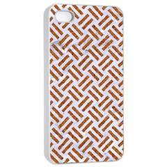 WOVEN2 WHITE MARBLE & RUSTED METAL (R) Apple iPhone 4/4s Seamless Case (White)