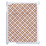 WOVEN2 WHITE MARBLE & RUSTED METAL (R) Apple iPad 2 Case (White) Front