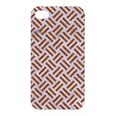 WOVEN2 WHITE MARBLE & RUSTED METAL (R) Apple iPhone 4/4S Hardshell Case