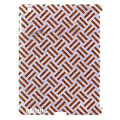 WOVEN2 WHITE MARBLE & RUSTED METAL (R) Apple iPad 3/4 Hardshell Case (Compatible with Smart Cover)