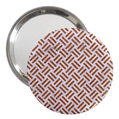 WOVEN2 WHITE MARBLE & RUSTED METAL (R) 3  Handbag Mirrors