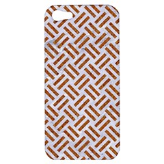 Woven2 White Marble & Rusted Metal (r) Apple Iphone 5 Hardshell Case by trendistuff