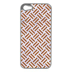 WOVEN2 WHITE MARBLE & RUSTED METAL (R) Apple iPhone 5 Case (Silver)