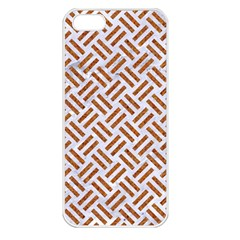 WOVEN2 WHITE MARBLE & RUSTED METAL (R) Apple iPhone 5 Seamless Case (White)