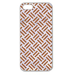 WOVEN2 WHITE MARBLE & RUSTED METAL (R) Apple Seamless iPhone 5 Case (Clear)