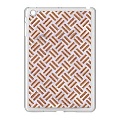 WOVEN2 WHITE MARBLE & RUSTED METAL (R) Apple iPad Mini Case (White)