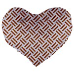 WOVEN2 WHITE MARBLE & RUSTED METAL (R) Large 19  Premium Heart Shape Cushions Back