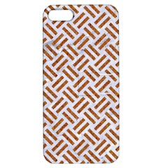 Woven2 White Marble & Rusted Metal (r) Apple Iphone 5 Hardshell Case With Stand by trendistuff