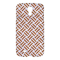 WOVEN2 WHITE MARBLE & RUSTED METAL (R) Samsung Galaxy S4 I9500/I9505 Hardshell Case