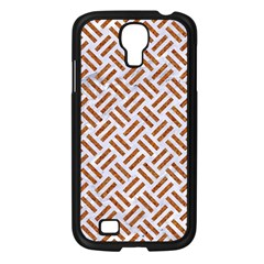 WOVEN2 WHITE MARBLE & RUSTED METAL (R) Samsung Galaxy S4 I9500/ I9505 Case (Black)
